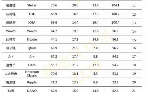 【工信部赛迪研究院】纳世链稳居赛迪全球公有链技术评估第六名