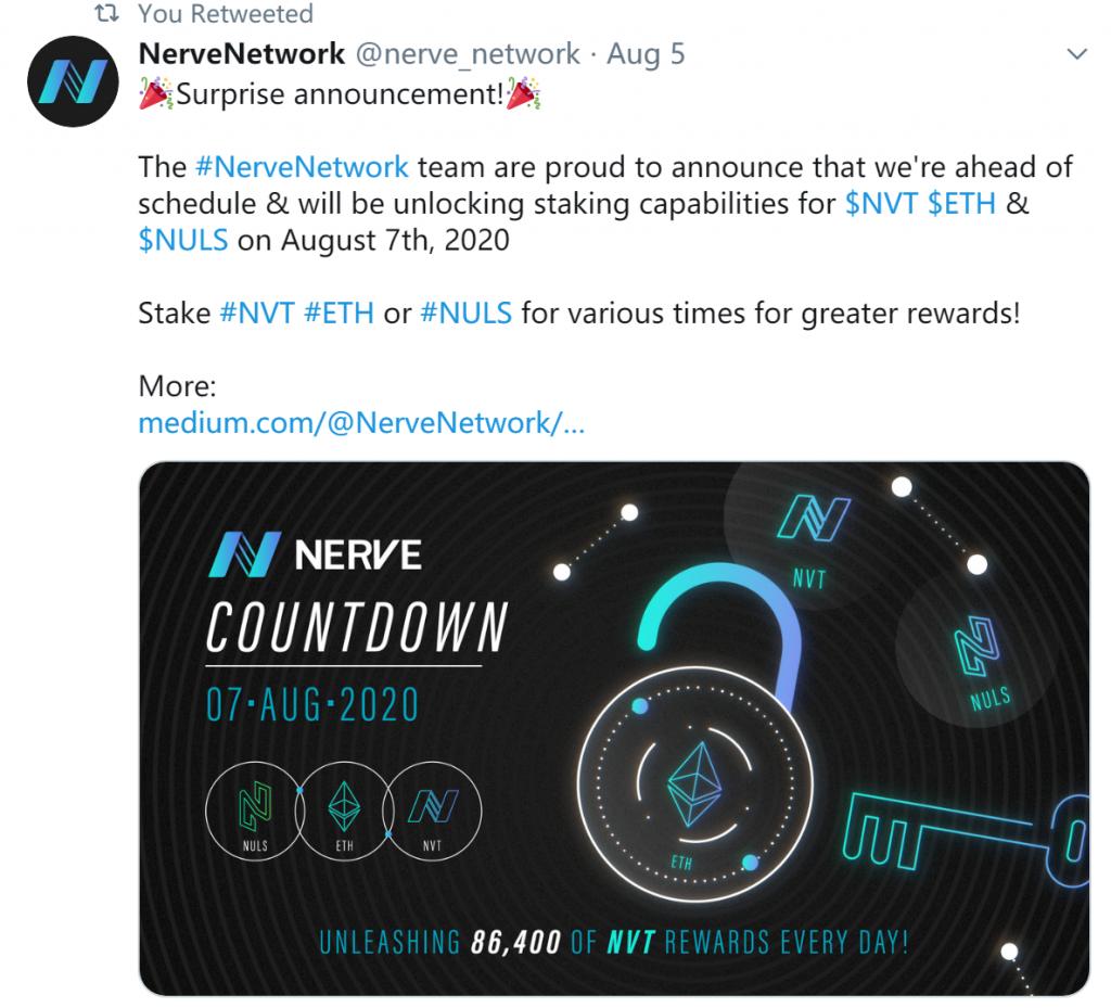 NULS社区2020年8月上半月简报   NULS异构跨链生态NerveNetwork主网节点正式开放