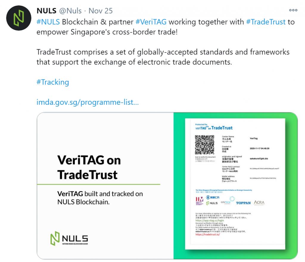 NULS社区2020年11月下半月简报 | NULS异构跨链生态NerveNetwork正式打通ETH、BSC与NULS三大公链