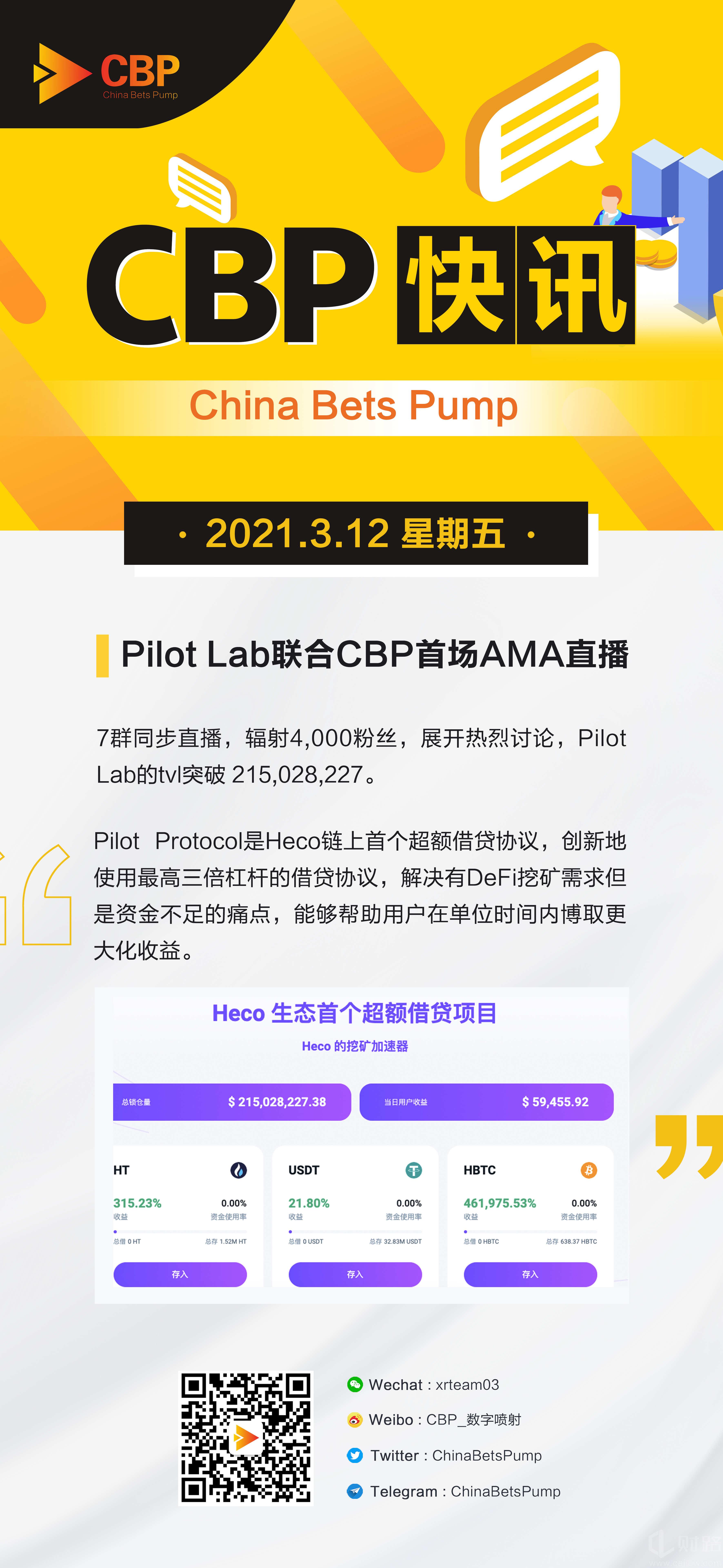 Pilot Lab联合CBP社区首场AMA