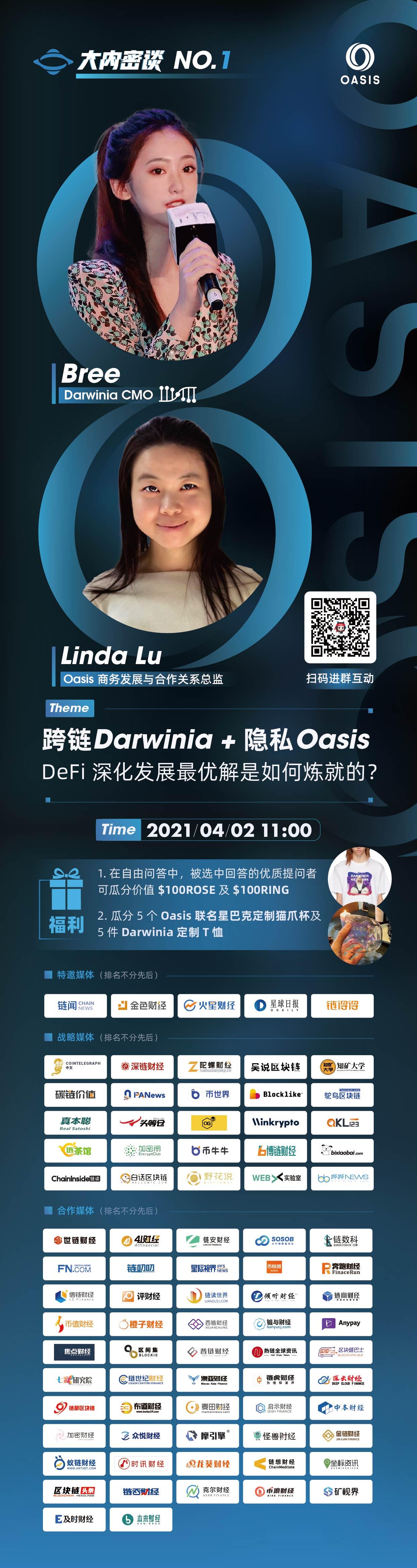 跨链Darwinia+隐私Oasis:DeFi深化发展最优解是如何练就的?