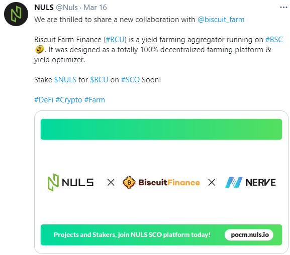 NULS社区2021年3月下半月简报|NULS生态Nerve跨链桥支持0手续费链内交易