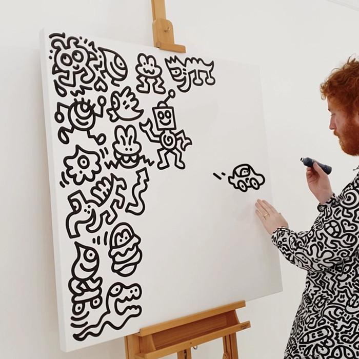 艺术家Mr Doodle最新NFT作品将于9月27日在SuperRare进行拍卖